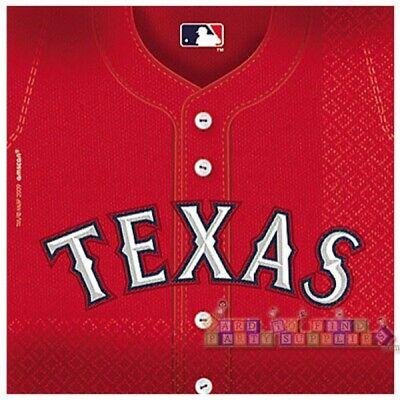 MLB TEXAS RANGERS LUNCH NAPKINS (36) ~ Sports Birthday Party Supplies - Texas Rangers Party Supplies