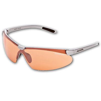 ALPINA Radbrille Sportbrille Freizeitbrille Brille DRIFT silber, sehr leicht