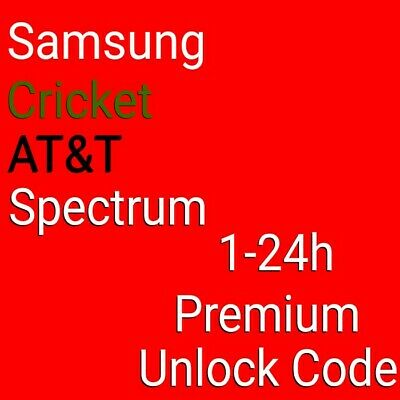 Premium Unlock Code SAMSUNG CRICKET AT&T Spectrum S10 S10e S10+ Note 10 10+ 9