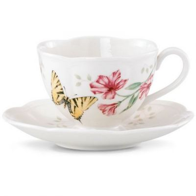Lenox Butterfly Meadow - TIGER SWALLOWTAIL - Cup and Saucer Butterfly Meadow Tiger