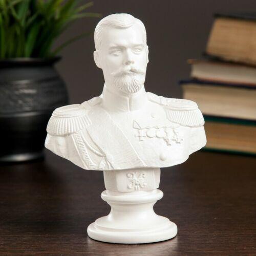 New Sculpture Bust Russian Last Tsar Nicholas II  5,51 inch. 14 cm