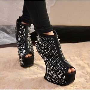 Super-Fashion-Platform-Studded-Spiked-Gorgeous-Stiletto-shoes-High-Heels