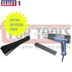 Sealey Plastic Welding Kit including HS102 Hot Air Gun w/ 36 extra welding rods!