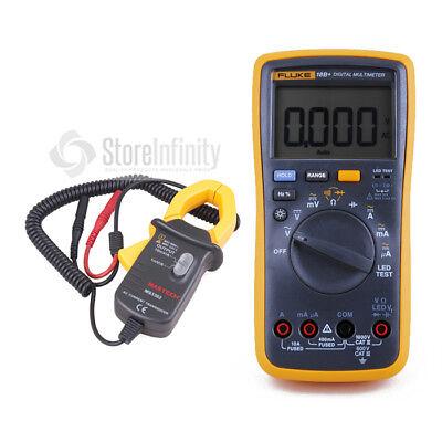 Fluke 18B+ LED Digital Multimeter + MS3302 AC Current Clamp Meter Transducer  Ac Current Clamp Meter