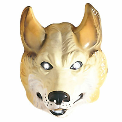 NEU Maske Wolf aus Plastik, beige Wolfsmaske  - Wolf Maskerade Maske
