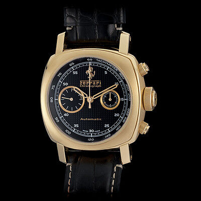 Panerai Ferrari 18K RG Granturismo Automatic Chronograph Watch. Solid 220 Grams!
