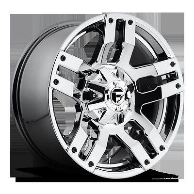 "18"" Fuel Offroad Pump Chrome Wheels Rims Toyota Tundra Sequoia Dodge Ram 1500 17"