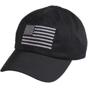 acc2c0ce1 Baseball Hat Operator Cap With US Flag Black Tactical 4364 Rothco ...