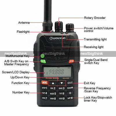Wouxun KG-UV6D 4m/2m 66-88/136-174 MHz BOS Hand Funkgerät + USB Programmierkabel