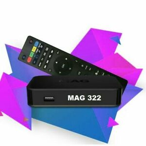 MAG322-W1 BOX +IPTV SUB YEARLY PLAN AVAILABLE