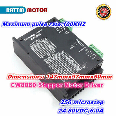 Cw8060 Stepper Motor Driver Cnc Controller 80vdc 6a For Cnc Router Milling