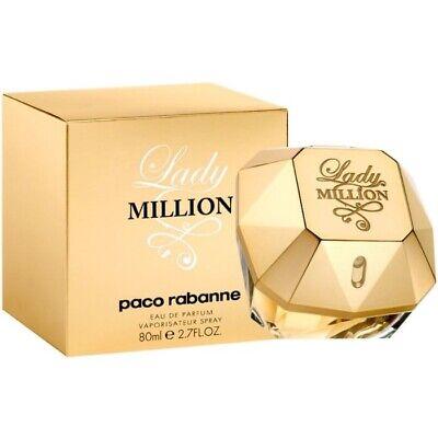 NEW AND SEALED 80ml Paco Rabanne Lady Million Women's Eau de Parfum 2.7 oz.