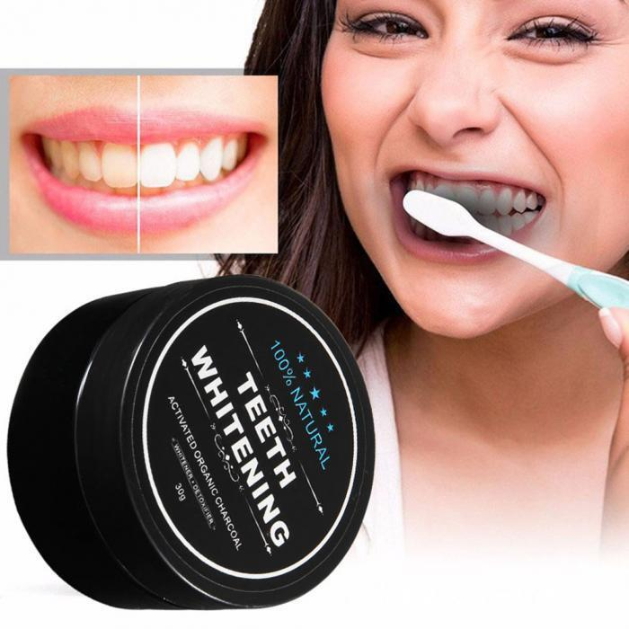 Zahnweiß Aktivkohle Kohlepulver vegane Zahnpflege Zahnpasta 100% NATÜRLICH