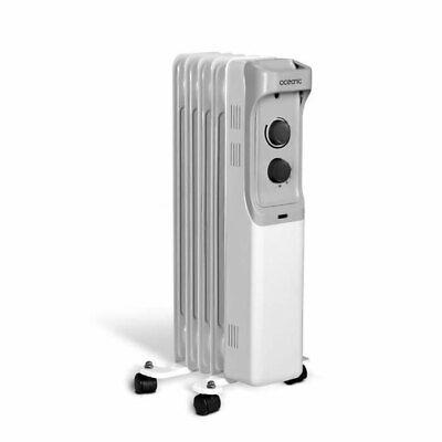 Radiador Baño Aceite Calentador Eléctrico Móvil 4 Ruedas 3 Niveles 1000W