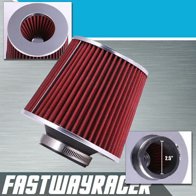 "BLUE UNIVERSAL 3.5/"" 89mm DRY AIR FILTER FOR HONDA//ACURA SHORT//COLD AIR INTAKE"