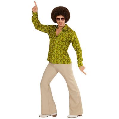 Herren-Kostüm Hemd Wallpaper, tolles Hippiehemd mit 70er Muster für - Hippie Kostüm Muster