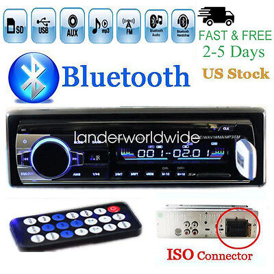 $19.89 - 12V FM Car Stereo Radio Bluetooth 1 DIN In Dash Handsfree SD/USB AUX Head Unit
