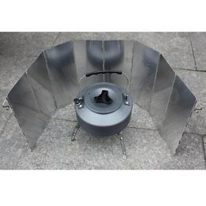 8 plaque aluminium pliage cuisine gaz pare anti vent camping tente bbq voyage ebay for Plaque alu cuisine sur mesure