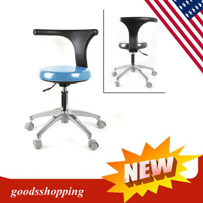 Dental Dentist Doctor Assistant Stool Adjustable Mobile Chair Pu Hard Leather