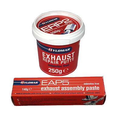 Hylomar Exhaust Silencer Assembly Paste EAP5 140g + Repair Putty ERP2 250g Set