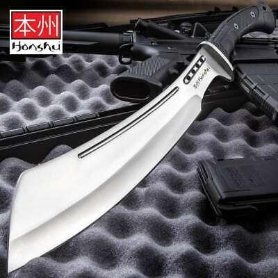 "20"" HONSHU BOSHIN PARANG KNIFE Machete Kukri Tactical Survival Cleaver w Sheath"