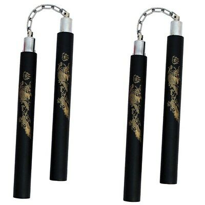 NUNCHUCKS FOAM PRACTICE W// CHAIN SAFETY MARTIAL ARTS SPEE WING CHUN KARATE