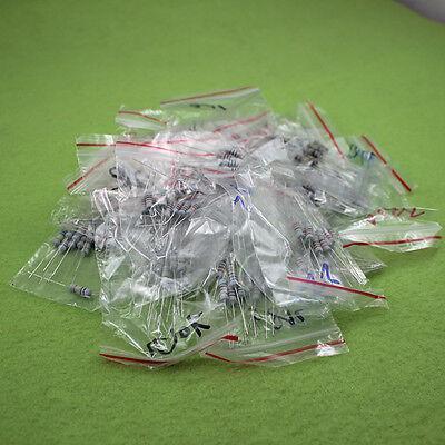 100pcs 20 Values 10-1m Ohm R 1w 5 Carbon Film Resistor Assortment Kit Assorted
