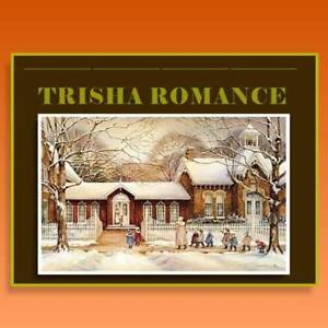 "TRISHA ROMANCE Wood Plaque 23x19.5"" (reg $70)"