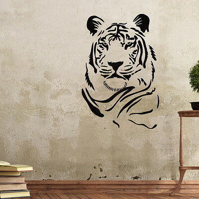 Wall Stencils Tiger Stencil Template for GRAFFITI better than wallpaper