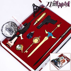 Sword Art Online Set of 8x Swords Blades Gun Weapon Pendant Cosplay Gift Boy