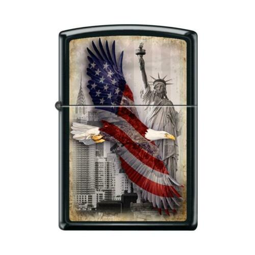 Zippo Lighter - Soaring Eagle And Statue Of Liberty - 853775