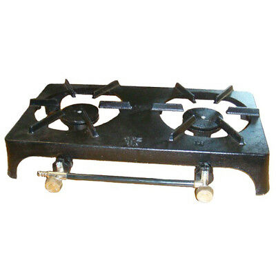 Used, DOUBLE CAST IRON LPG PROPANE BUTANE BOILING TWIN RING OUTDOOR CAMPING GAS STOVE for sale  Shipping to Nigeria