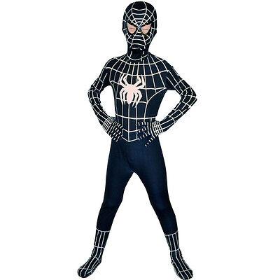 Junge Venom schwarz spiderman Kostüm Kinder Superheld cosplay zentai Voll - Spiderman Vollen Kostüm