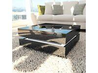 Tiffany Black High Gloss Cubic LED Coffee Table