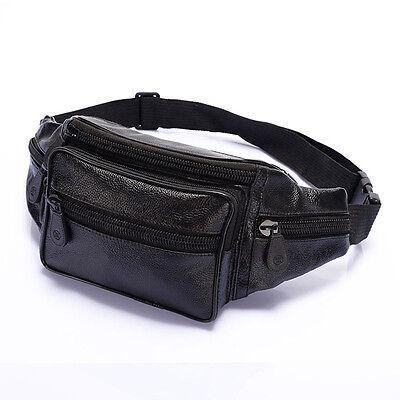 Men's Leather Fanny Pack Waist Travel Bag Hip Purse Organizer Adjustable Belt