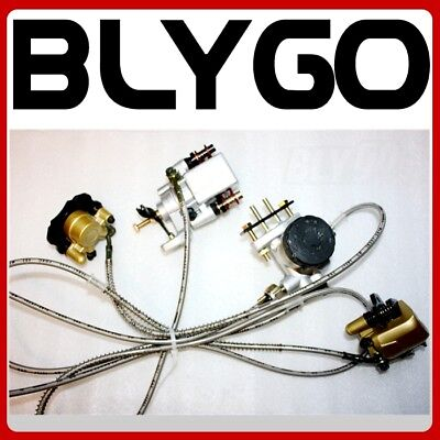 Hydraulic Disc Brake Calipers Pad System 150cc 250cc Quad Dirt Bike Dune Buggy for sale  Shipping to Canada
