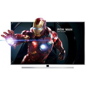 UHD 4K 3D - 48in Samsung ue48ju7000 - LED Smart TV Voice ctrl Freeview & Freesat HD
