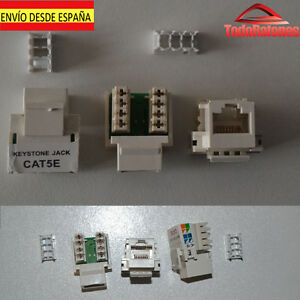 Conectores conector pared hembra rj45 red ethernet crimpar for Conector de red hembra