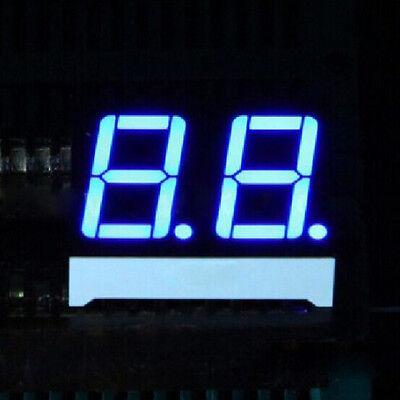 10pcs 0.56 Inch 2 Digit Led Display 7 Seg Segment Common Cathode Blue 0.56