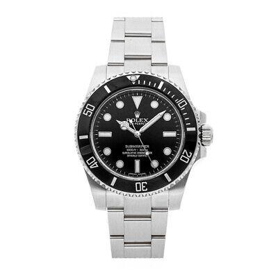 Rolex Submariner No Date Auto 40mm Steel Mens Oyster Bracelet Watch 114060