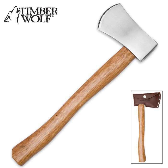 "14"" Timber Wolf Battle Tactical Throwing Axe Hatchet Tomahawk Survival w/ Sheath"