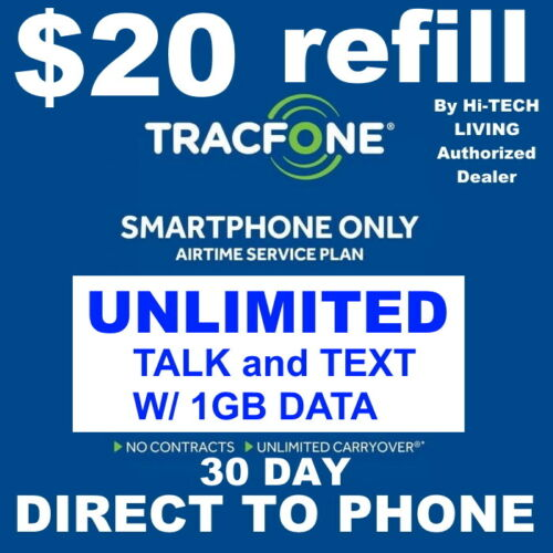 $20 TRACFONE FASTEST PREPAID REFILL DIRECT to SMARTPHONE 🔥GET IT TODAY!🔥