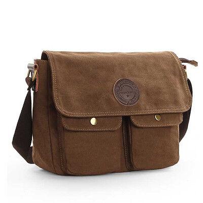 Men's Canvas Cross Body Bag Messenger Shoulder Book Bags School Satchel Vintage Eco Friendly Messenger Bag