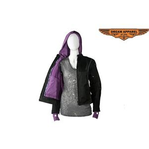 Womens Textile Jacket With Air Vents On Sleeves SKU: LJ7011-CCC