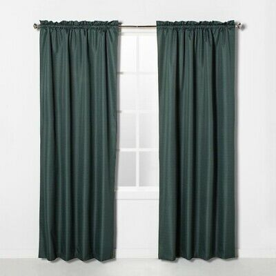 """Braxton Thermaback Blackout Curtain Panel - Pine Green - 42"""" x 84"""" - Eclipse"""