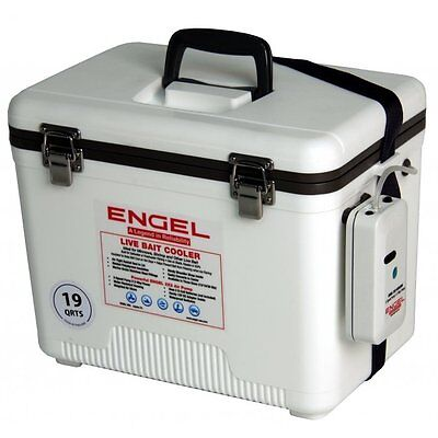 Portable Boat Livewell Aerator 19Qt Pump Fishing Bait Fish Live Well Bucket Tank