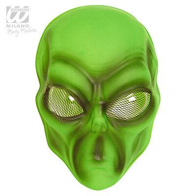Giftgrüne Alien-Maske
