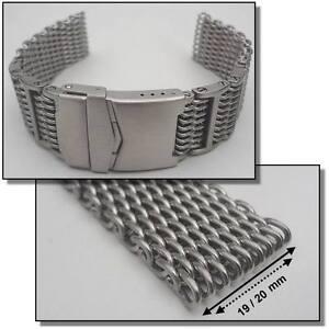 4,5 mm dickes Edelstahlband Milanaiseband Uhrenarmband 19 und 20 mm #2661-20