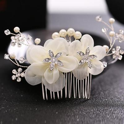 Romantische Hochzeit Haarschmuck für die Braut Elegante Blume Kopfschmuck