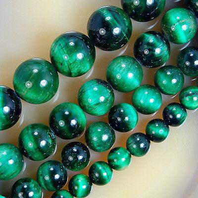 - Green Tiger Eye Round Beads 6,8,10,12mm Pick Size